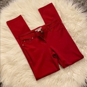 NWOT Cherry Red Jeggings (M)